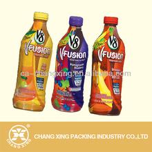 customized design printed shrink juice bottle labels