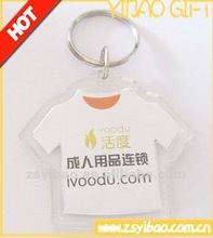2012 T-shirts cloth shape Acrylic keychain plastic key chain with paper insert inside heart shape square shape