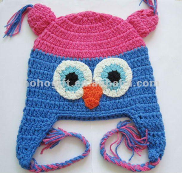Gorro a crochet con orejeras - Imagui