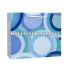LPSB104 blue color paper shopping bag