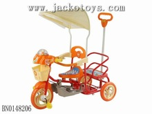 BABY TRICYCLE W/LIGHT,MUSIC(ORANGE/BLUE)