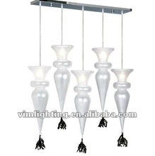 2012 new modern glass pendant lamp 8661-5
