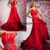 Red strapless beaded custom-made 2013 formal evening dress CWFae4405