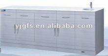 Medical equipment/anti-fingerprint stainless steel dental cabinet/hospital furniture