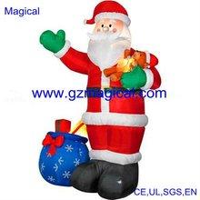 inflatable christmas santa with presents bag