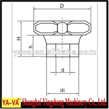 inner teeth plastic knob drawings,nylon +brass packaging machinery parts/components