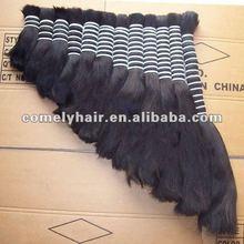Long Beautiful Natural Color Silky Straight Remy Human Hair Bulk