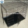 black pvc coated Double doors Dog cage
