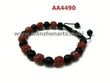 shamballa tube beads pink crystal ball woven shamballa bracelet