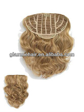 2012 hot selling clip in hair extensions for black women