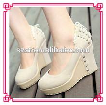 nuovo allacciatura borchie tacco scarpe donna wedgs xt12071608