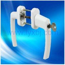 UPVC door German chain lock twin handles with round zinc base xxx