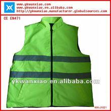Reversible reflective jacket with high visibility,high visibility jacket with reversible sides,Reversible safety jacket,
