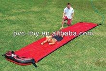 inflatable PVC vinyl spraying Slip And Slide Race red
