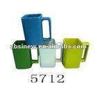 Solid color glazed ceramic square coffee mug
