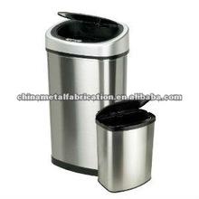 kitchen stainless steel trash bin