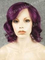 Romantic Violet Rihanna Short Wavy Hair Heat Resistant Lace Wig Synthetic