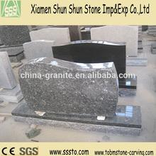 Silver Pearl Granite Headstone with Simple Design