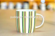 Nice Green Stripes Ceramic Cup Mug cheap Wholesale
