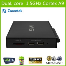 android tv box with skype smart tv box m6 RAM 1GB ROM 8GB Dual core TV Box with webcam hd media player