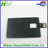 Best Selling Wholesale Laser Logo Black Credit Card USB Drive