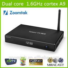 OEM/ODM manufacturer android 4.2 usb smart tv box support xbmc/ webcam