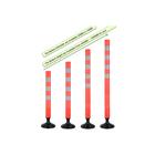 Orange Polypropylene Flexible SpringBack Road Safety Sign Delineator Bollard/Post[Round Base]