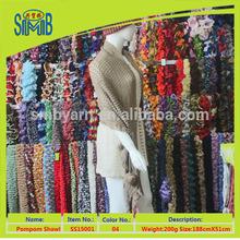 gray 100% acrylic lady's fashion shawl scarves