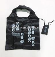China factory produce blank shopping bag foldable nylon polyester bag fabric reusable shopping bag