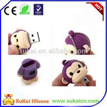 3D Lovely monkey shape silicone /PVC usb flash disk