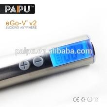 Stainless Battery Variable Voltage eGo-VV Battery with Digital Display Screen E Cigarette eGo V V2