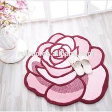 3d effect rose shape carpet, mat,rug for door, bath and home