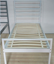 cheap ikea single bed furniture,morden round bed,iron/metal/steel bedroomfurniture priceB (MB-75)