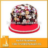 2015 new style 100% cotton beautiful fashion hip hop flat caps/ snapback caps