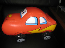 inflatable orange cartoon car model/pvc inflatable orange cartoon mini car replica/inflatable cartoon car toy for kids