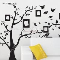 matte black wall sticker,pvc plastic wall tile,big tree decorative stickers for tiles