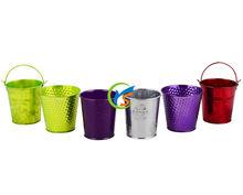 Mini transparent color metal bucket wholesale