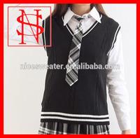 Japanese uniform knitting cable patterns school girls sweater vest