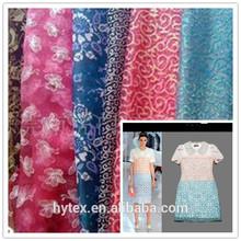 wholesale multi-color organza fabric gold foil printing wedding dresses fabrics