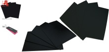 Stiff black color paper/ blackboard colour paper/ cardboard sheet/black paperboard /black paper board /wrapping paper from China