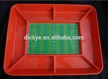 promotional new soccer tray/melamine tray/Football field pallet