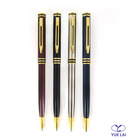 Fashion metal gift pen with gold trims