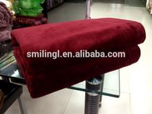 pure solid color coral fleece blanket