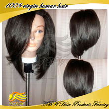 Bod Style Layered Wigs Virgin Brazilian Bob U Part Wig Left Side