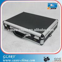 Black metal aluminum aluminum briefcase for laptop