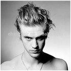 Cheap 100% human hair grey human hair wigs toupee for men/ peluca/ peruca/ de cheveux