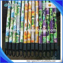 flower pvc coated wooden broom handle, flower pvc coated wooden broom stick for Indian market
