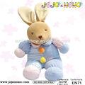 Bebê brinquedo de pelúcia travesseiro, bebê brinquedo de pelúcia do coelho, baby brinquedo de pelúcia musical serviço do oem para marcas famosas