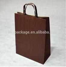 stripe kraft paper gift bag brown shopping bag