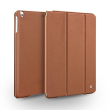 2014 QIALINO best selling Genuine leather cover case For iPad air with tripod stand